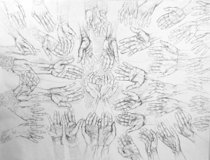Occam's Hand drawing, work in progress by Jack Butler