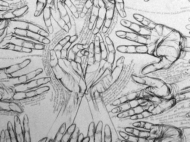 Occam's Hand drawing, detail, by Jack Butler